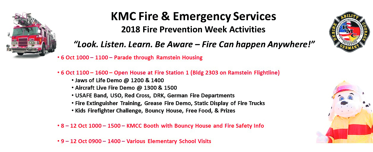 KMC Fire & Emergency Services supports Fire Prevention Week 2018