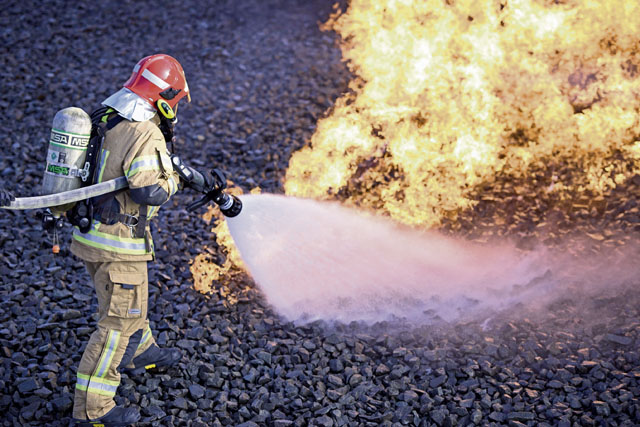 US, NATO firefighters forge through flames