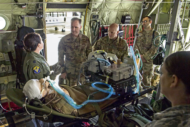 Third Air Force leadership visits Ramstein