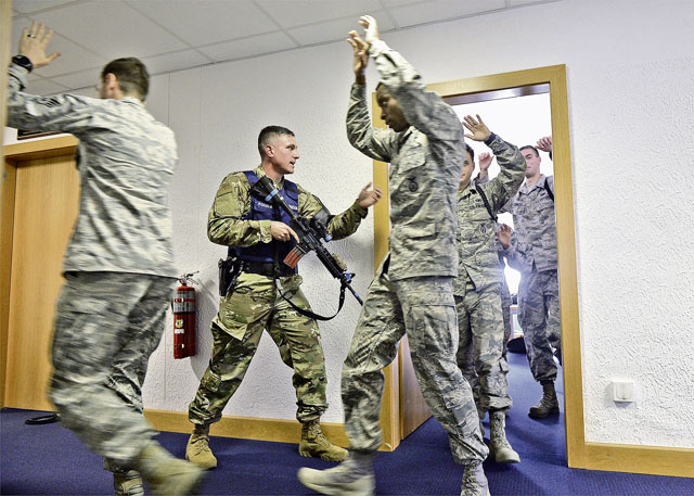 KMC Airmen practice active shooter response
