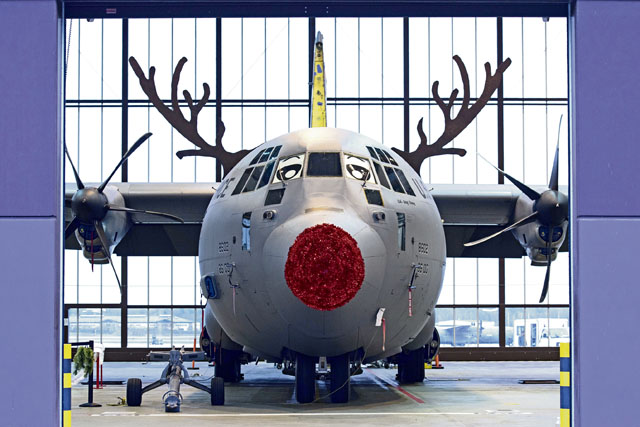 Red-nosed Herc brings Holiday Cheer