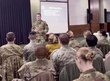 """Leadership of the """"World's Best Wing"""" focused on the accomplishments and challenges of 2018 to help prepare for future trials and triumphs of 2019 at multiple all-calls here Jan. 25."""
