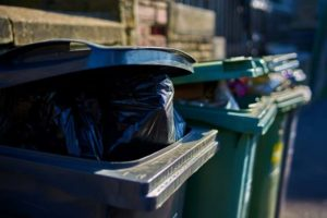 Overfilled waste cans will not be emptied