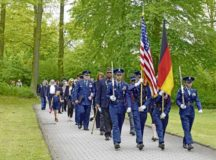 Kaiserslautern Kindergraves – Keeping the Promise The Ramstein High School Junior Reserve Officers' Training Corps leads attendees to the Kindergraves at the Kaiserslautern Main Cemetery, Kaiserslautern, May 19. The Kindergraves are the final resting place to the 451 children who passed away between 1952 and 1971