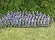 U.S. Airmen, Soldiers, NATO partners, and senior leaders pose for a group photo during the Atlantic Stripe Conference at Ramstein Air Base, May 10. This four-day self-development conference, hosted by U.S. Air Forces in Europe and Air Forces Africa, provided 70 junior noncommissioned officers briefings on a wide variety of topics including leadership philosophy, etiquette, resiliency and decision making.
