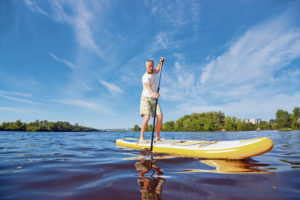 Stand-up paddleboarding for beginners