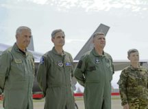 Senior Leaders, Italian air force Maj. Gen. Silvano Frigerio, Combat Force Commander; U.S. Air Force Lt. Gen. Steven Basham, U.S. Air Forces in Europe and Air Forces Africa deputy commander; Brig. Gen. Mato Mikic, Croatian air force commander; and Maj. Gen. Alenka Ermenc, Slovenian air force chief of the general staff, visited Aviano Air Base, Italy, as part of Astral Knight 2019, June 4.