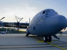 A C-130J Super Hercules aircraft sits on the flightline on Ramstein Air Base, Aug. 29. The 86th Maintenance Squadron and 86th Aircraft Maintenance Squadron labeled it as a 'black letter aircraft,' which meant that it came out of maintenance without any discrepancies.