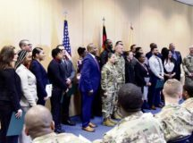 Fifteen transitioning service members from throughout Europe graduate from the Department of Veterans Affairs' Warrior Transition Advancement Course at a ceremony Dec. 19, 2019 at Sembach Kaserne. Fourteen Soldiers and one Airman attended the 10-week course to learn skills needed to become Veterans Service Representatives and handle VA disability claims.