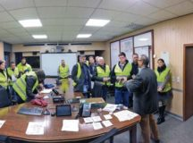 U.S. Army Garrison Rheinland-Pfalz personnel gather for a meeting before going door-to-door in Baumholder Military Community housing areas to promote participation in the 2019 Fall Army Housing Resident Satisfaction Survey Dec. 13, 2019. The survey wrapped up with an overall participation rate of just over 25 percent. Courtesy photo