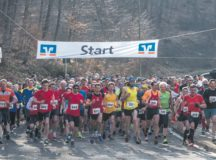 Each year, Landstuhl Mountain Run participants run through the forest uphill to Nanstein Castle in Landstuhl. This year's run is scheduled to start at 3 p.m. tomorrow. Courtesy photos