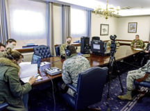 The 86th Airlift Wing Public Affairs team partners with Armed Forces Network Kaiserslautern to broadcast the virtual town hall over multiple platforms simultaneously from Ramstein Air Base, April 20. The town hall was recorded via Facebook live, as well as broadcast over AFN Kaiserslautern to the 66,000-member community.