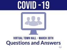 Leadership from the 86th Airlift Wing hosted a virtual town hall March 30, in an ongoing effort to address concerns associated with the coronavirus disease 2019, or COVID-19. This weekly installment of the virtual town hall was delivered via Facebook Live and Armed Forces Network – Kaiserslautern.