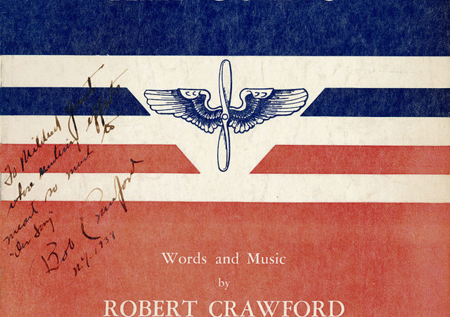 1st edition publication, autographed by the composer to Mrs. Mildred Yount, the chairwoman of the AAC song committee. courtesy photo