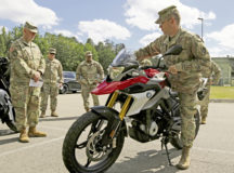 10th Army Air and Missile Defense Command Conducts Motorcycle safety training near Rhine Ordnance Barracks on July 1. Photo by Sgt. Andrew Mallett