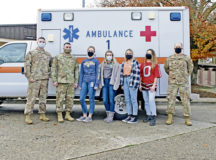 Members of the 86th Medical Group Public Health flight pose for a photo at Ramstein Air Base, Germany, Nov. 20, 2020. Public health officials contact trace positive COVID-19 patients and isolate them to protect the public from further exposure. (U.S. Air Force photo by Airman 1st Class Taylor D. Slater)