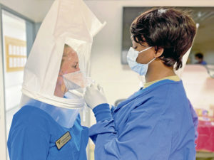 Properly fitted surgical masks ensure patient, provider safety