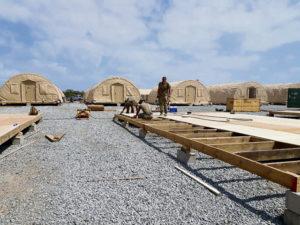 435 AEW Airmen support Operation Octave Quartz, build out base