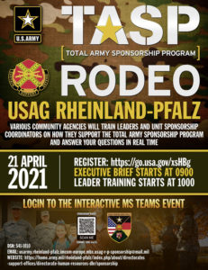 USAG Rheinland-Pfalz TASP Rodeo to go virtual