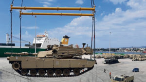 Army logisticians move armored power across Europe for Atlantic Resolve