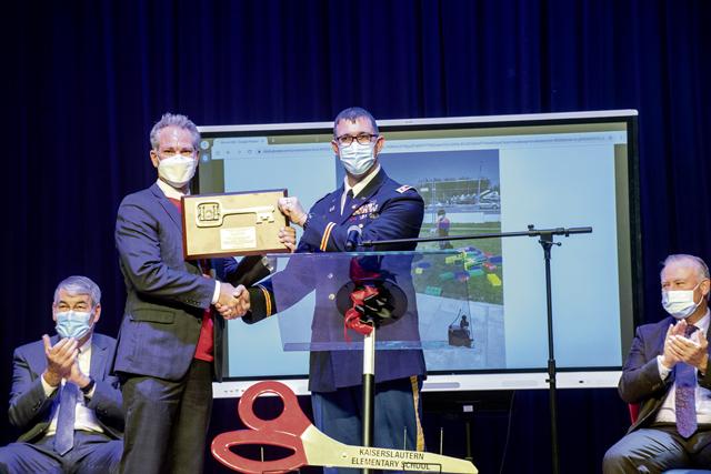Ribbon cutting marks official opening of Kaiserslautern Elementary School, Ramstein High School
