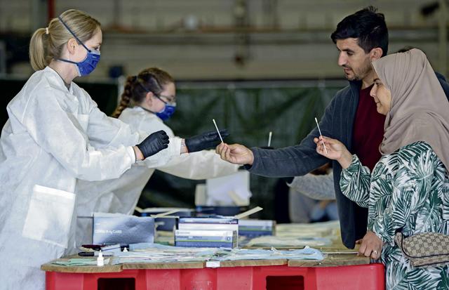 Ramstein administers antigen tests, influenza vaccine to evacuees
